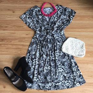 LOFT Faux Wrap Dress - Small